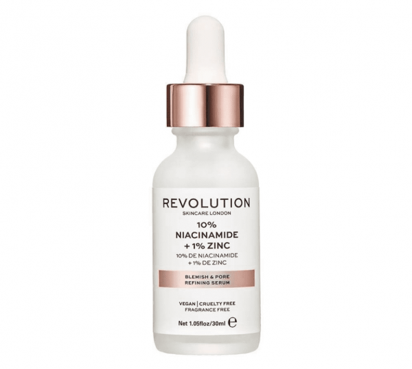 Revolution Skincare – Blemish and Pore Refining Serum, 10% Niacinamide + 1% Zinc